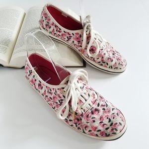 Kate Spade Keds Floral Rose Canvas Shoes US 7